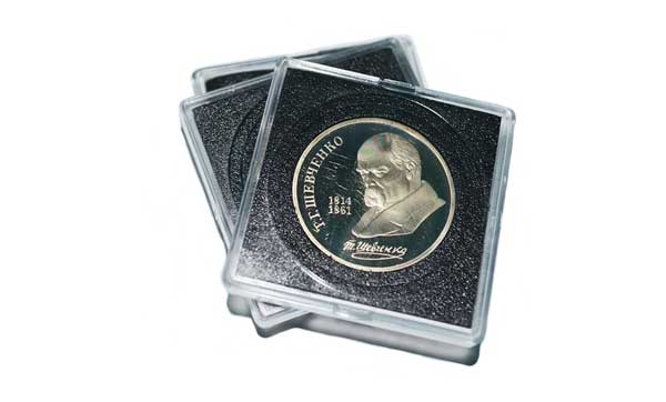 Квадратные капсулы для монет, подходящие под разный диаметр