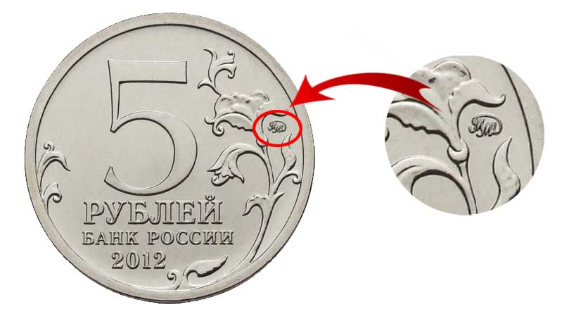 Аверс юбилейной монеты номиналом 5 рублей