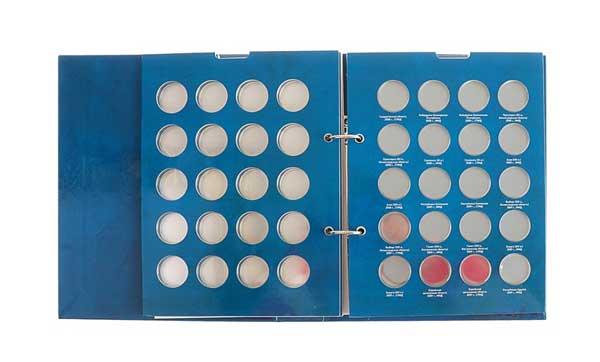 блистерный альбом для монет со вставными листами