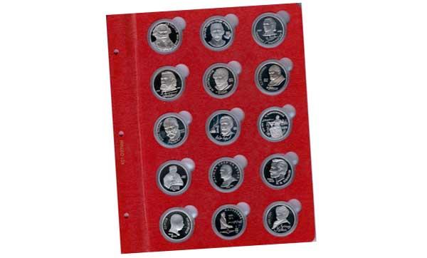капсульный лист для вставки в альбом Коллекционер